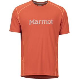 Marmot Windridge Bluzka z krótkim rękawem Mężczyźni with Graphic pomarańczowy